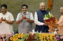 Ram Nath Kovind in Lucknow with Yogi Adityanath
