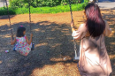 Aishwarya Rai Bachchan swinging with daughter Aaradhya