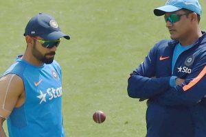 Anil Kumble and Virat Kohli