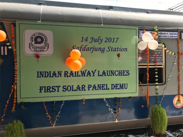 Indian Railways first solar train