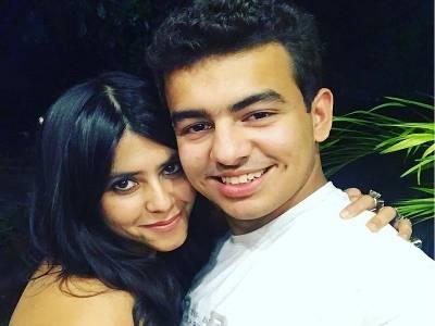 Ekta Kapoor along with smriti irani's son zohar!