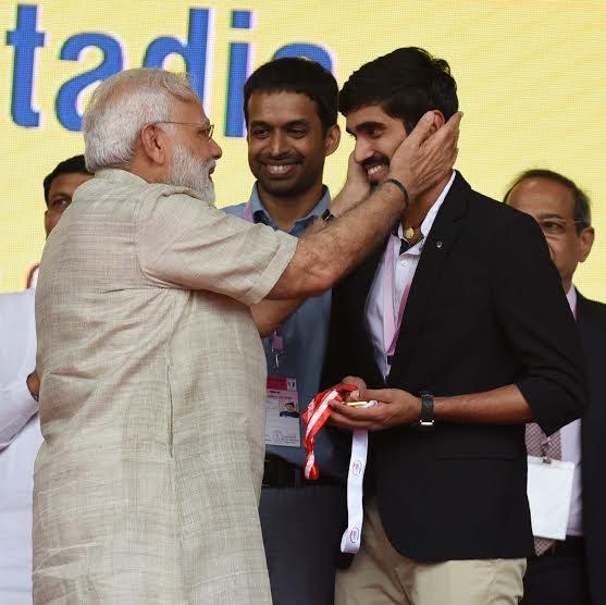 Narendra Modi and Kidambi Srikanth