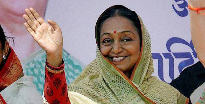 Nitish leaves for Rajgir as Meira Kumar lands in Patna