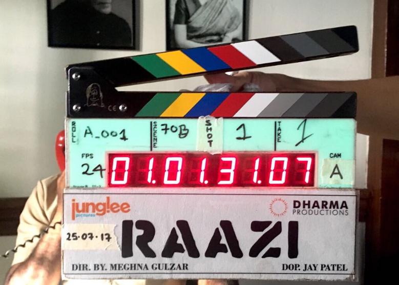 Meghna Gulzar directorial Raazi, starring Alia Bhatt and Vicky Kaushal begins shooting. See photo!