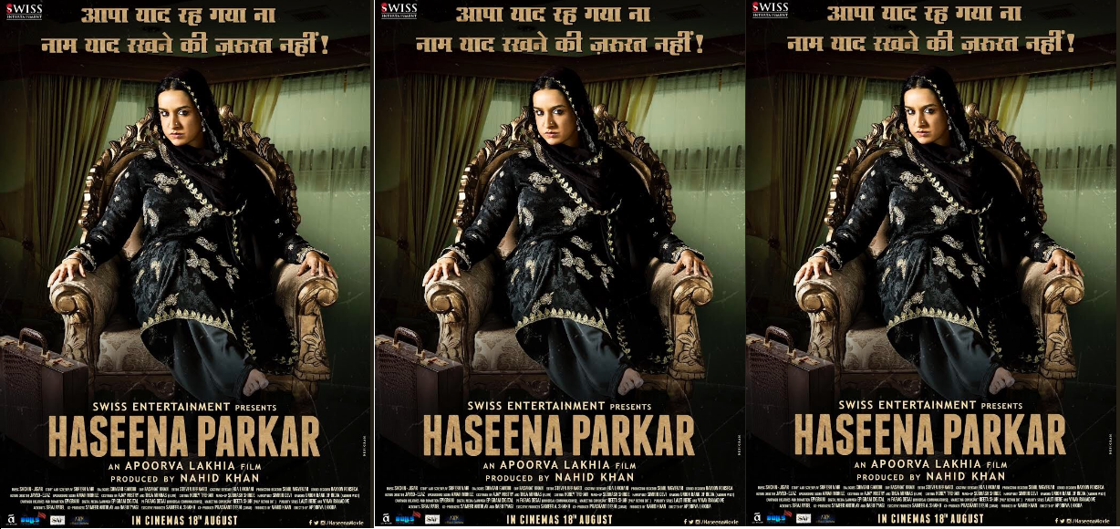 Haseena Parker NEW POSTER: Shraddha Kapoor as Aapa will leave you bedazzled!!