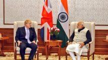 Boris Johnson with Narendra Modi