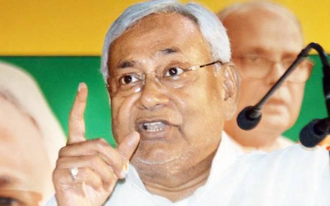 Angry Nitish Kumar