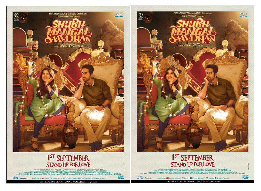"Bhumi released the new poster for the movie ""Shubh Manglam Savdhan"""