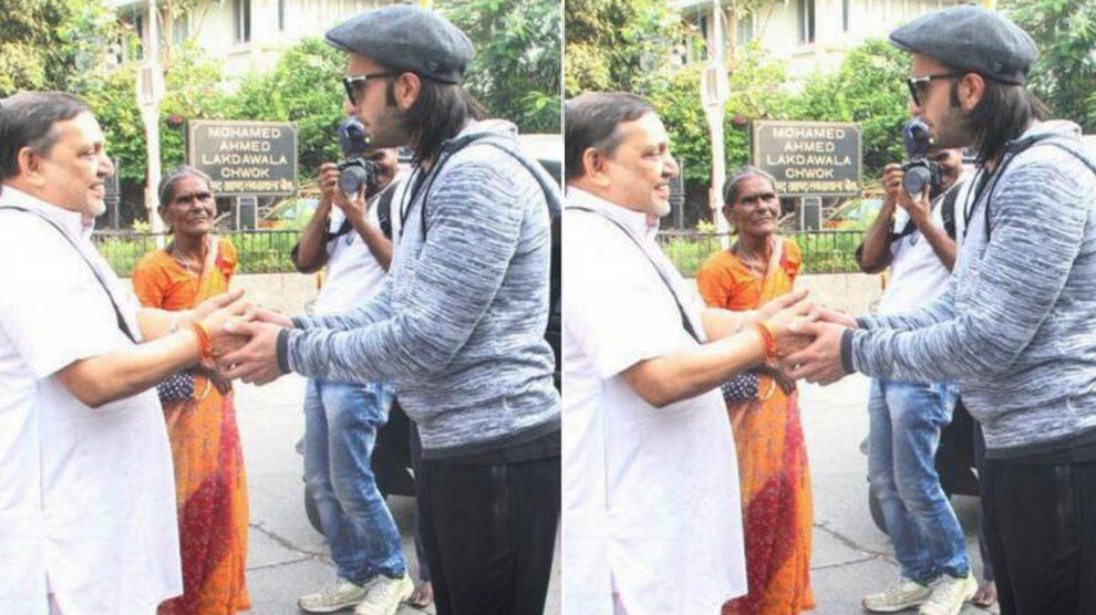 Ranveer Singh seeks blessing from a priest for his upcoming movie Padmavati success!
