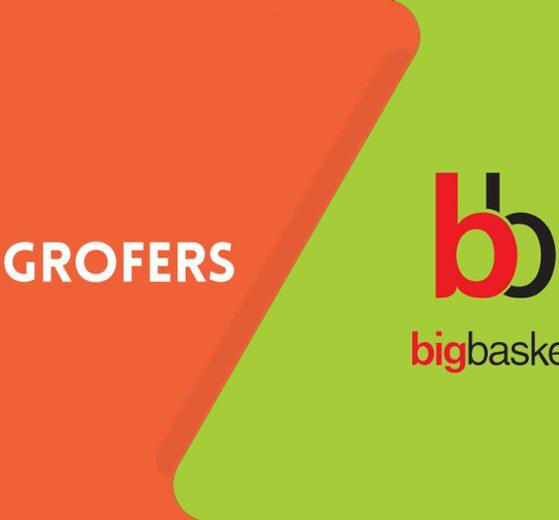 Grofers and BigBasket Logo