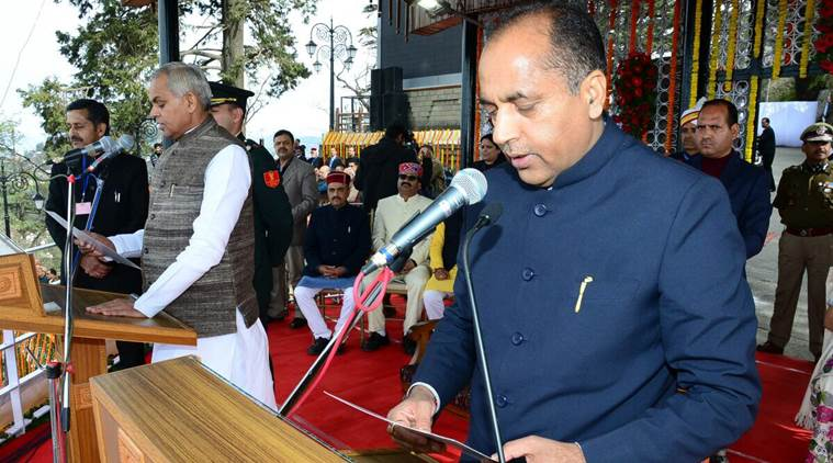 Jai Ram takes oath as HP CM; PM, Advani, Shah attend function