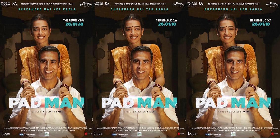 `PadMan` Akshay unveils new poster!