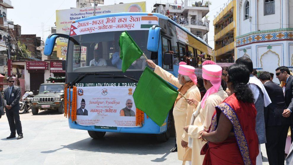 Yogi Adityanath receives Nepal pilgrims in Ayodhya