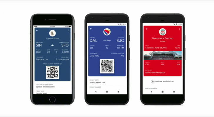 Google I/O: Google Pay gains mobile tickets, boarding passes