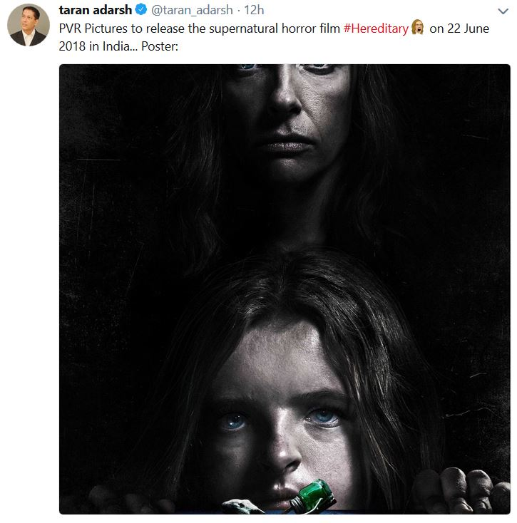 Pvr Pictures Acquires Rights To Release Hereditary In India The