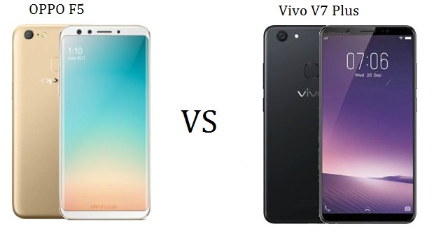 oppo f5 vs vivo v7 plus