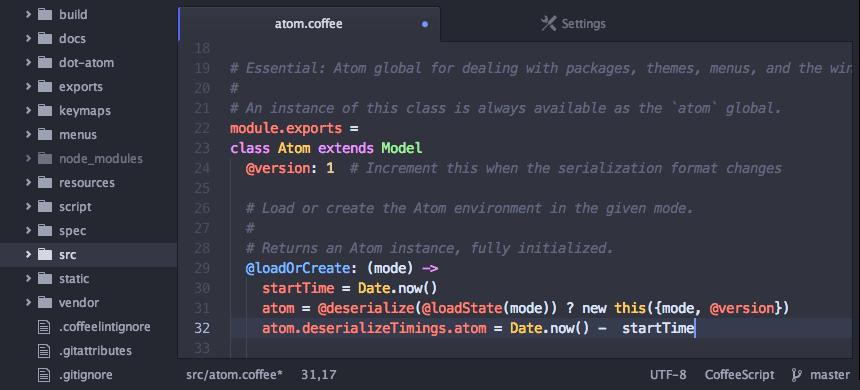 Atom Code Editor IDE