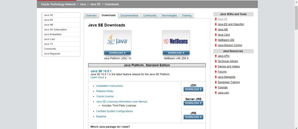 Download JDK Software
