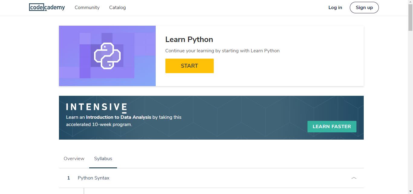 List of top 10 best websites for learning Python online for