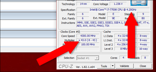 Checking the new Clock Speed