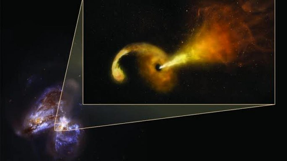 Black Hole Swallows Star, Belches Particles as Scientists Watch