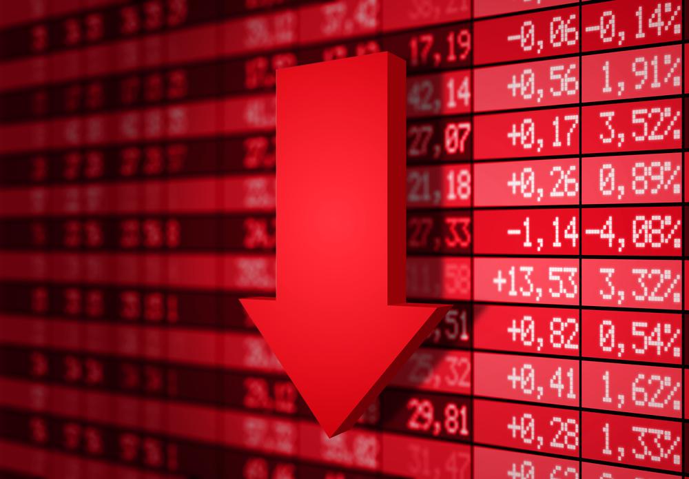 Stock market down
