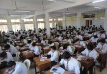 Students writing board exams