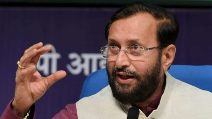 Prakash Javadekar in a speech