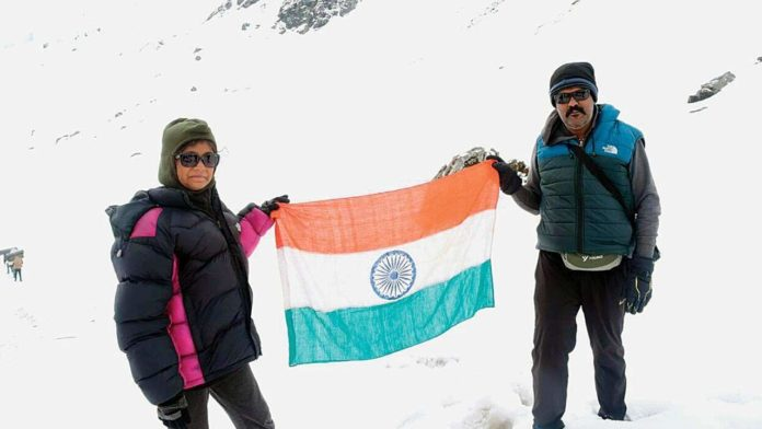 Young mountaineer Urvi Patil