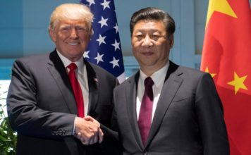 Donald Trump and Chinese President Xi Jinping