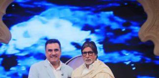 Boman Irani and Amitabh Bachchan