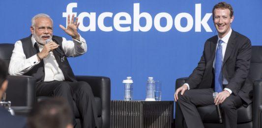 Narendra Modi and Mark Zuckerberg