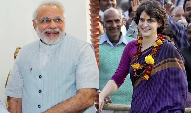 Image result for pm narendra modi priyanka gandhi