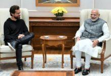 Jack Dorsey and P.M Narendra Modi