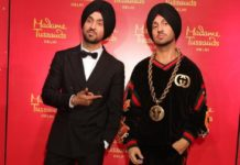 Diljit Dosanjh wax statue at Madame Tussauds delhi