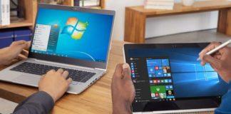 Windows 7 and Windows 10