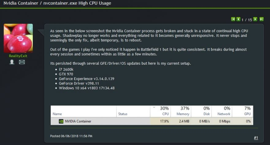 Nvidia GeForce GTX 1650 Causing High CPU Load Issues   The