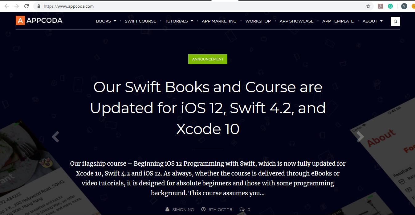AppCoda Homepage