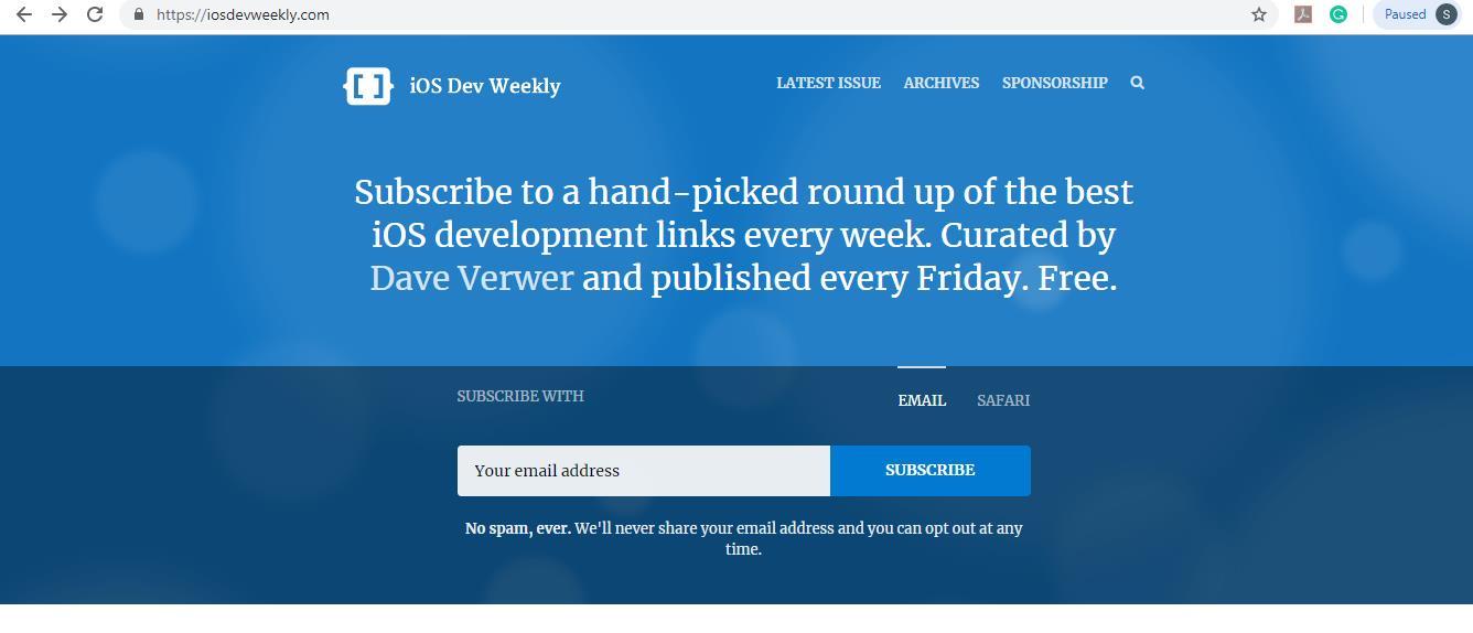 iosdevweekly homepage