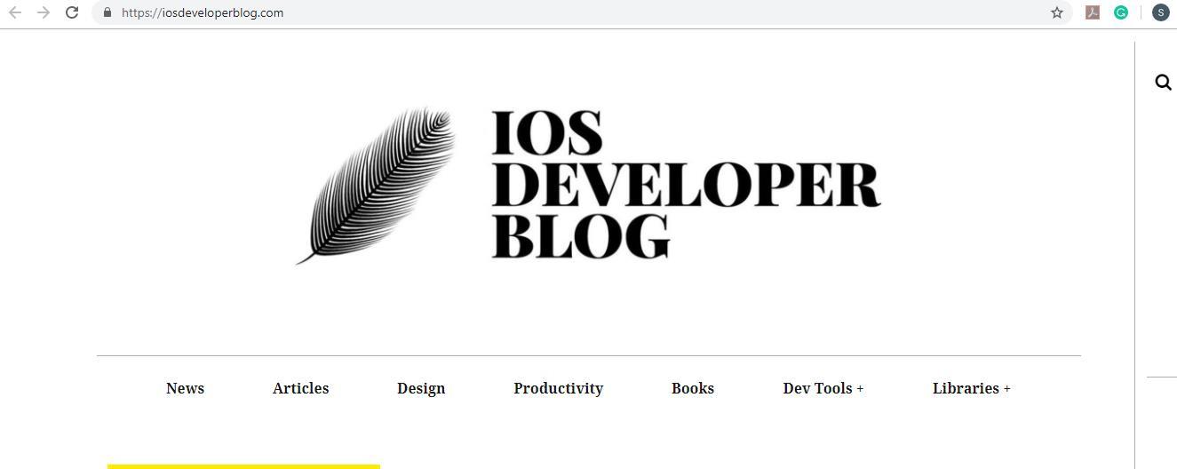 iOS Developer Blog Homepage