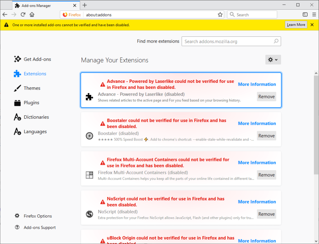 Mozilla releasing fix for Firefox extensions bug that