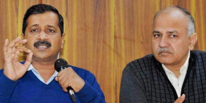 Arvind Kejriwal and his deputy Manish Sisodia