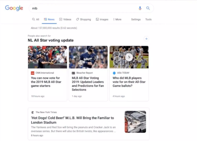 Google's redesigned News tab wants you to know who stories are from