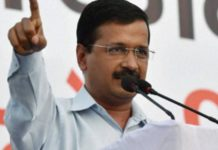 Delhi Chief Minister Arvind Kejriwal during a press conference