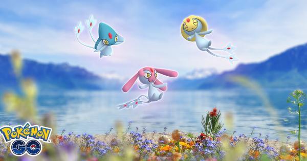 pokemon-go-the trio of psychic Pokemon Azelf, Mesprit, and Uxie-legendary-raid-hour