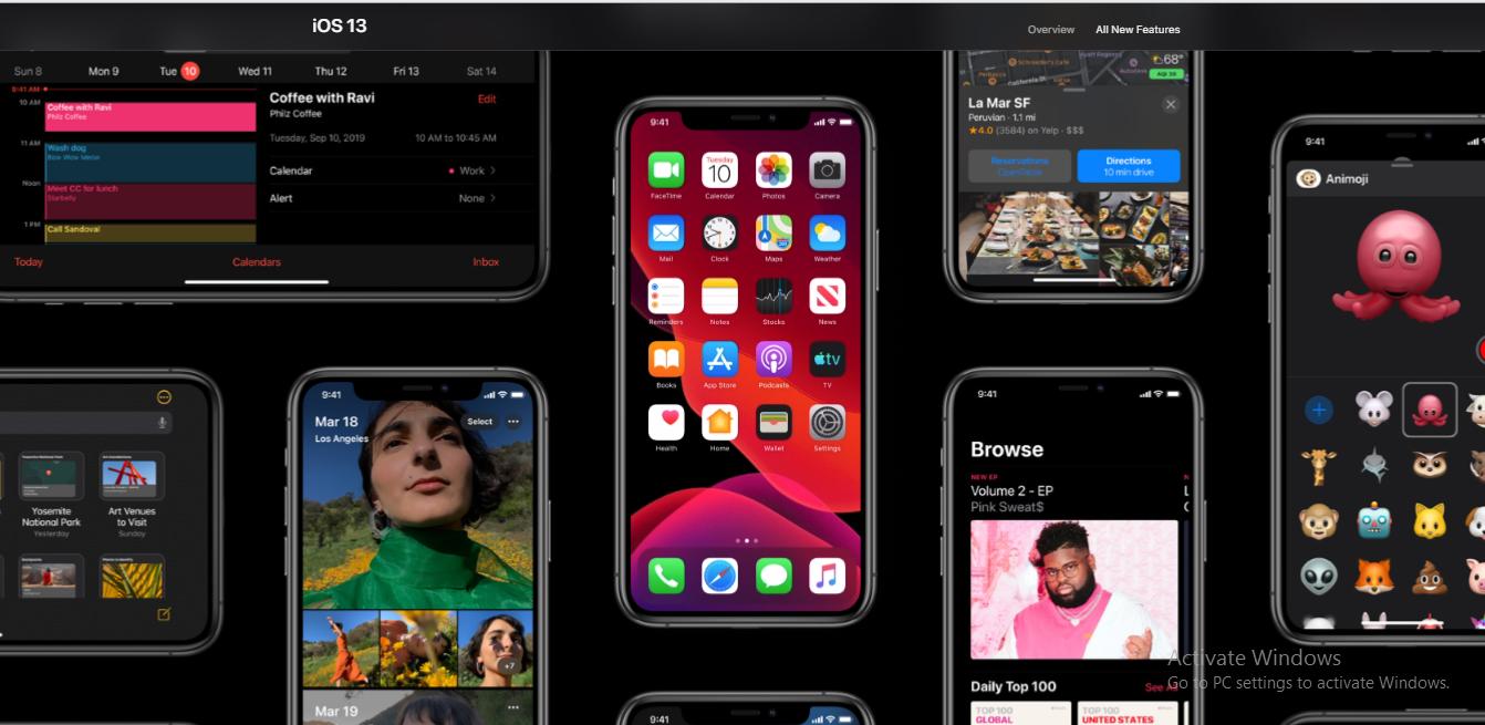 iOS 13- Dark Mode