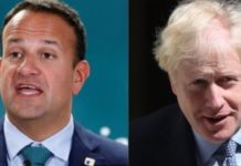 British PM Boris Johnson - Ireland PM Leo Varadkar over Brexit Deal