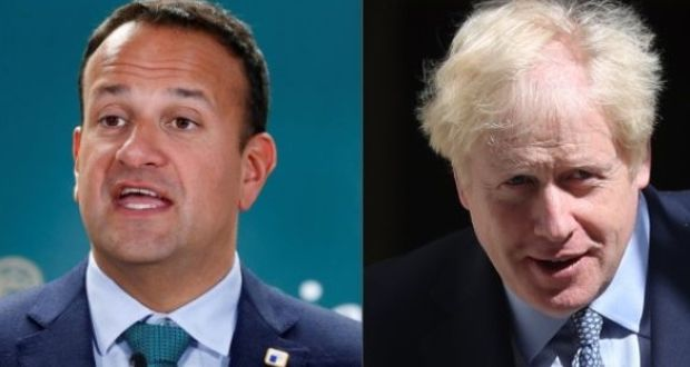 British PM Boris Johnson - Ireland PM Leo Varadkar over Brexit Deal
