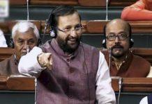 Prakash Javadekar in Parliament