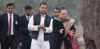 Rahul, Sonai Gandhi at Shakti sthal
